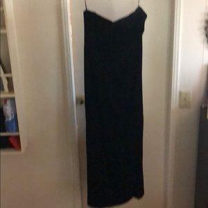 Black Velvet Gown by Kay Unger